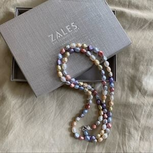 Zales Dyed Multi-Color Freshwater Pearl Necklace